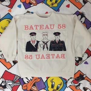 Vintage crew neck Bateau 58